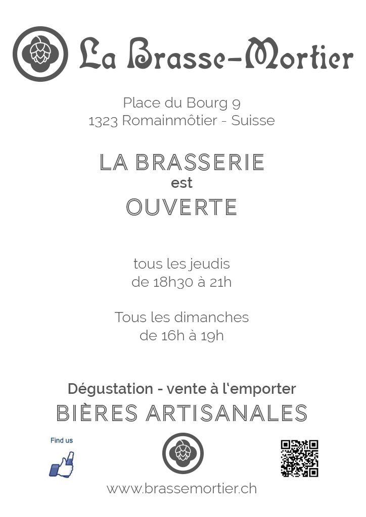 Horaire 2019 de la Brasserie Brassemortier